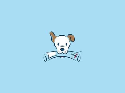 Pooch icon news blue illustration logo newspaper dog