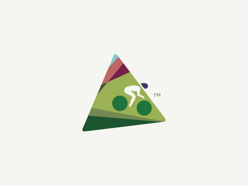 On Ye Bike motion cycling bike flat illustration icon branding logo