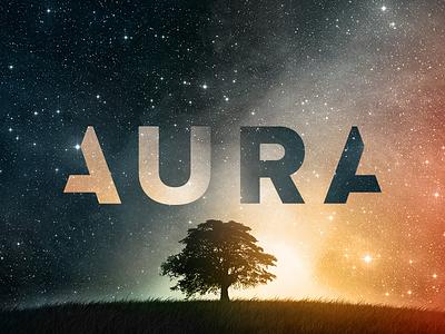 Aura reflection branding typography type logo