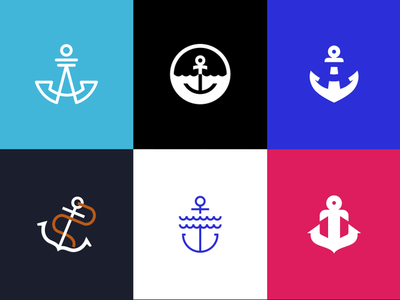 Lower the Anchors illustration design concepts identity branding logo anchor