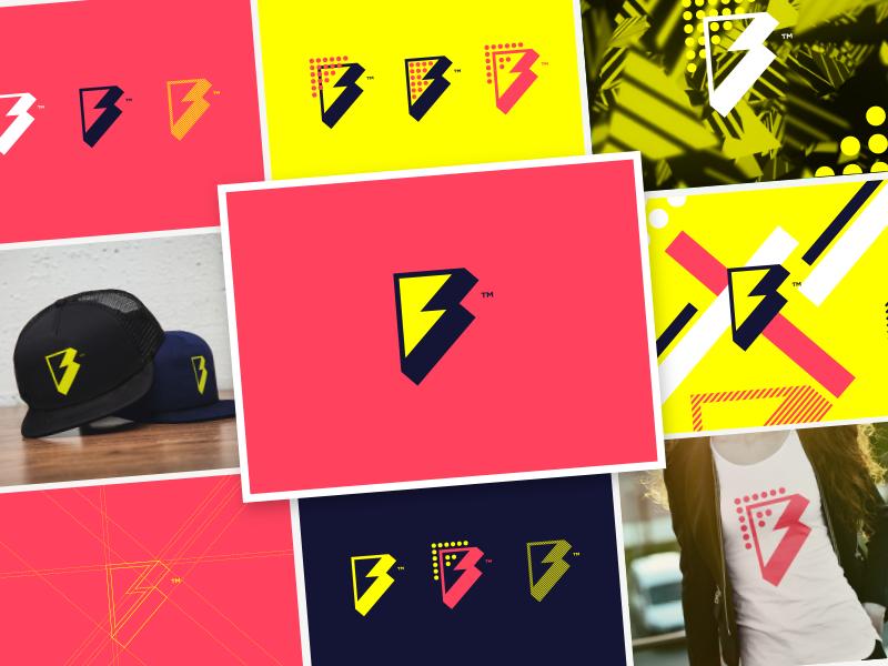 Flash Dev f lightning design identity branding icon logo flash