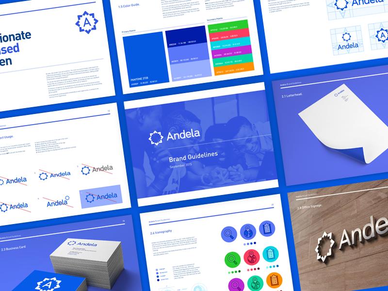 Andela Brand Guidelines guide guidelines branding brand identity logo
