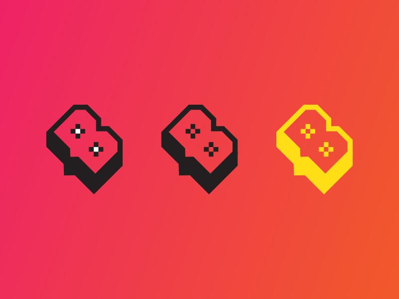 Beebox grad angle icon design b brand branding logo