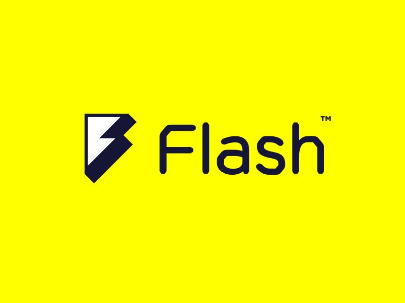 Flash Logo f brand icon lightning flash identity branding logo