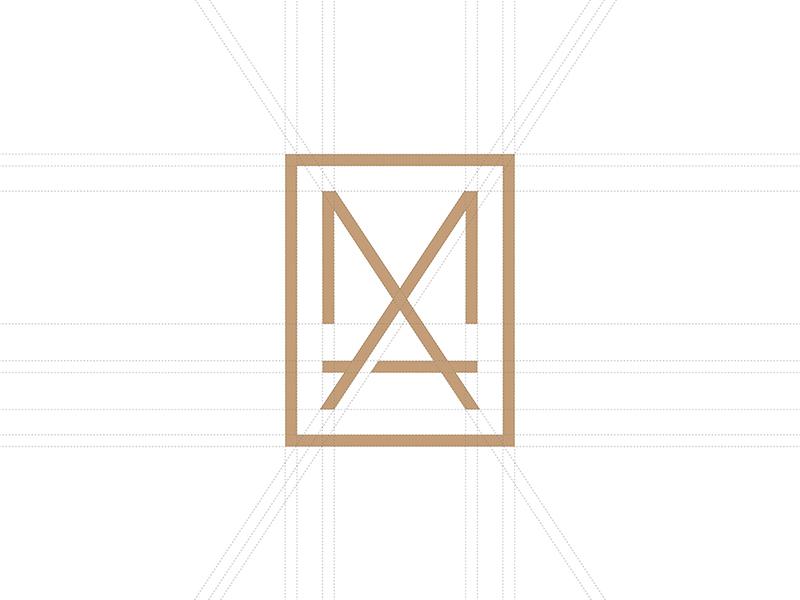 MA a m brand icon monogram identity branding logo