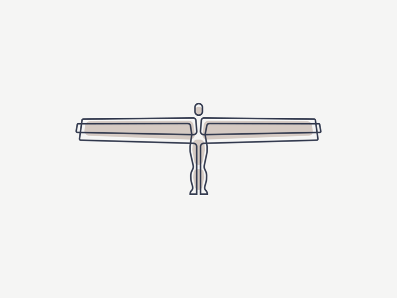 Angel design angel illustration icon branding logo