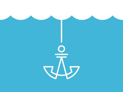 Anchor design anchor icon mark branding logo