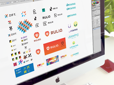 Conceptualisation type z lion design identity icon branding logo
