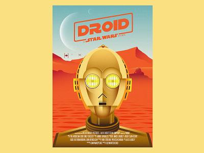 Droid Poster robot design type illustration star wars droid poster