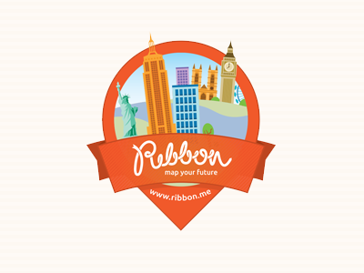 Ribbon sticker