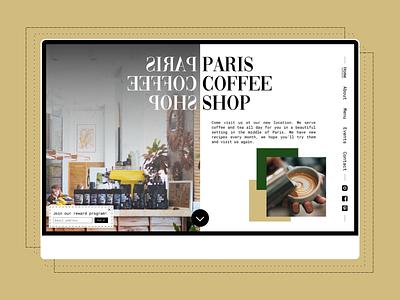 Paris Coffee Shop landingpage - DailyUI #3 landing page landingpage day3 dailyui3 dailyui 003 ui french daily ui dailyui