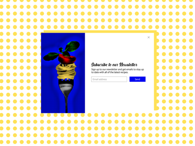 Subscribe form - DailyUI #26 pop art popart day26 dailyui day26 dailyui 026 subscribe form subscribe design dailyuichallenge ui french daily ui dailyui