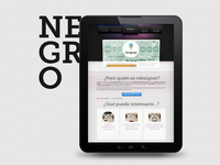Tablet view of vdesigner.es