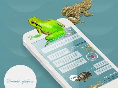 Presentation detail of a project presentation web design design illustration