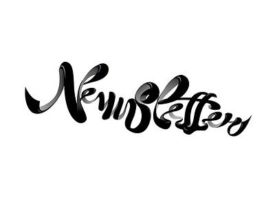 Newslettering newsletter letter lettering white black
