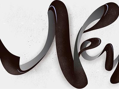 N! Final colors newsletter newslettering n ligature white black color lettering