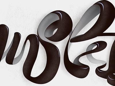 SL! Final colors newsletter newslettering n ligature white black color lettering