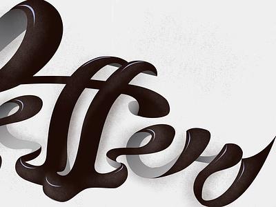 Tt! Final colors newsletter newslettering n ligature white black color lettering