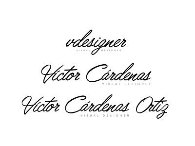 New year, new personal branding #vdesigner typography victor cardenas logo branding new vdesigner