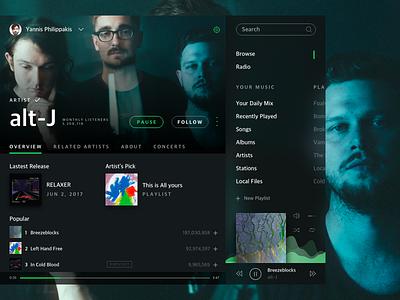 Murk Spotify brazil concept alt-j ux ui spotify fluent design murk