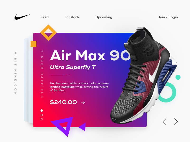 Nike Air Max 90 Ultra Superfly T Vintage Concept geometric vintage shoes colors cards card ultra superfly t nike air