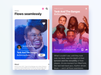 Tank And The Bangas iOS 11 style sketch app ios11 apple app store ux ui mobile tank and the bangas music fluent app