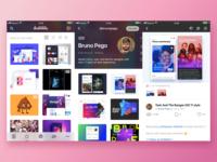 Dribbble app concept iOS 11 🏀