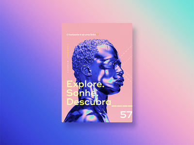 ☝ static eyes☝ #57 • Explore. Sonhe. Descubra. vaporwave 2017 colours design freelance gradient duotone poster type typography sculpture portfolio