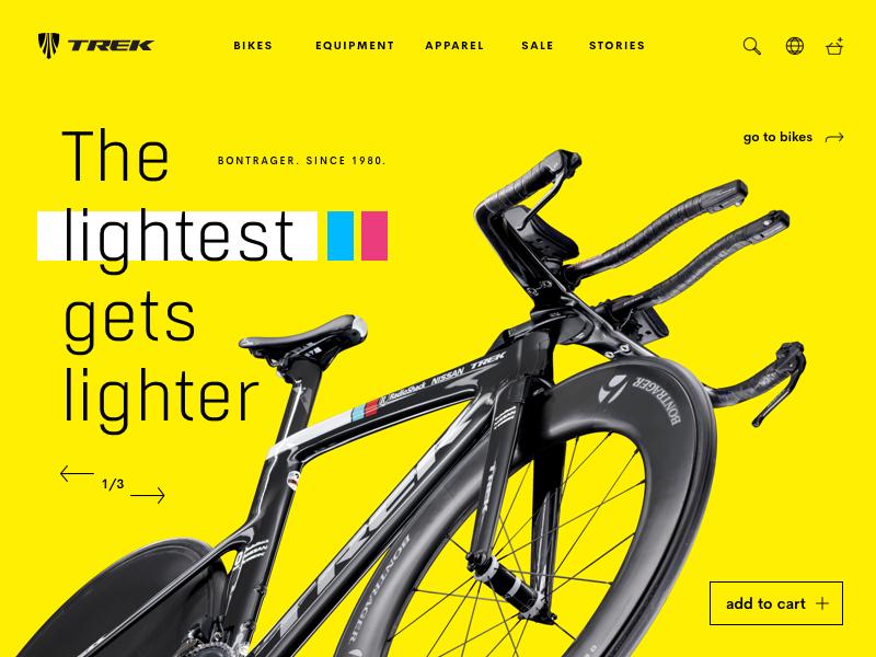 TREK bicycle | Daily UI colors trend web design web trek inspiration design ui bike design bike
