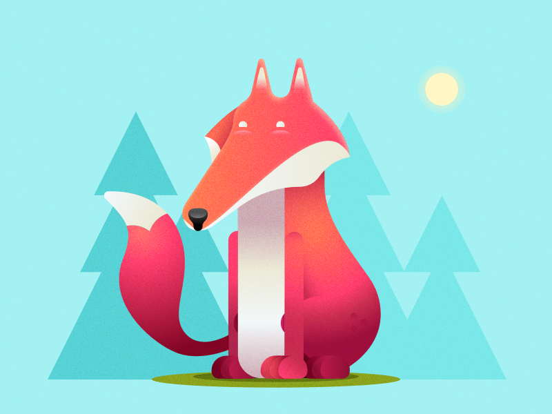 Raposinha character fox animal icon illustration flat ui forest sketch art design trend