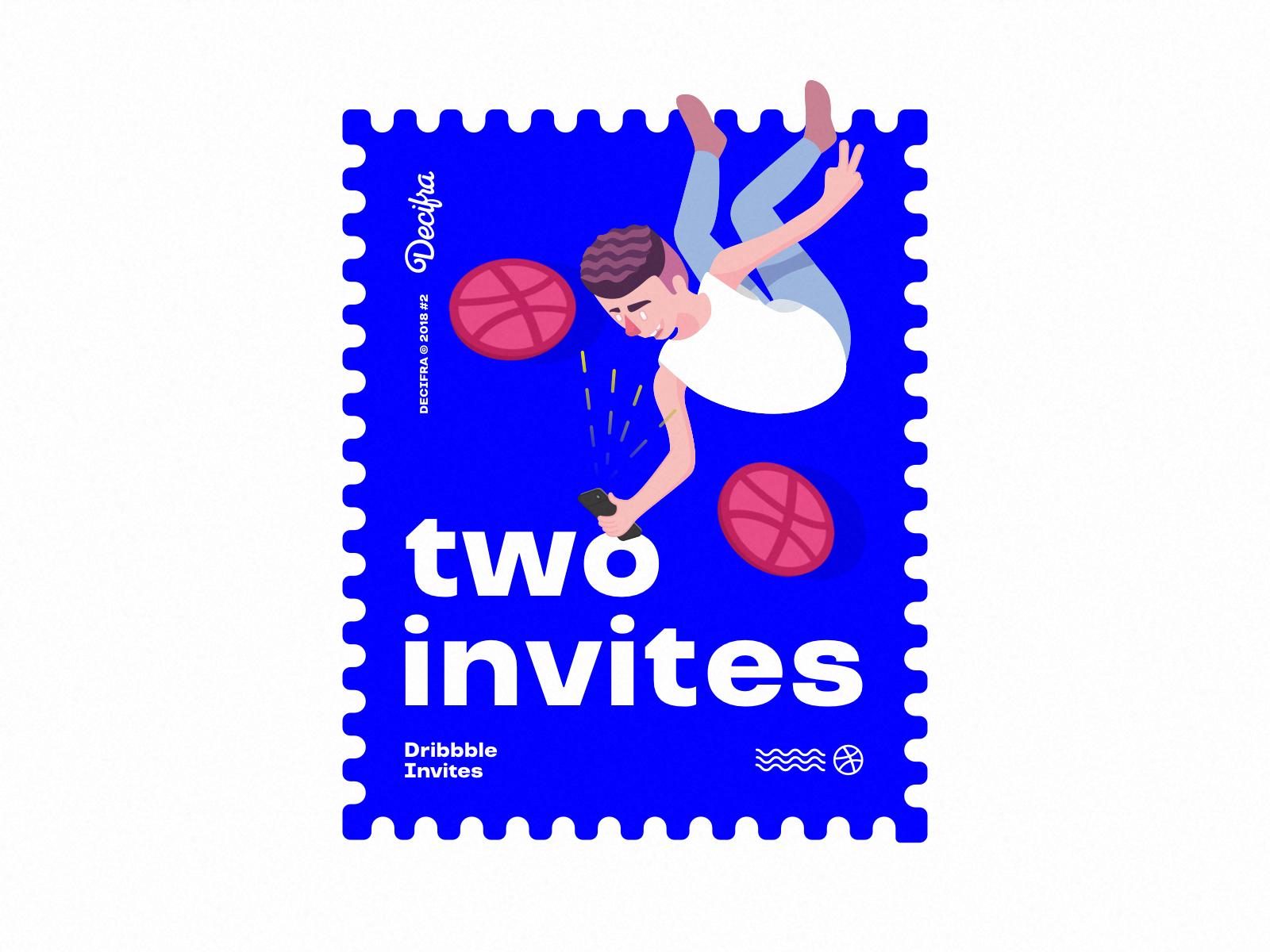Two dribbble invites 2x