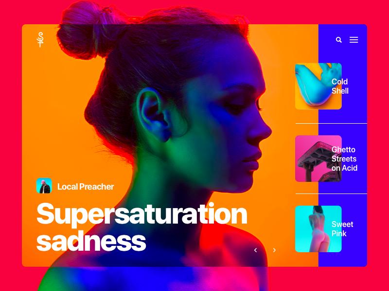 |01| website web design ux ui pego neon layout landing page grid gradient flat color