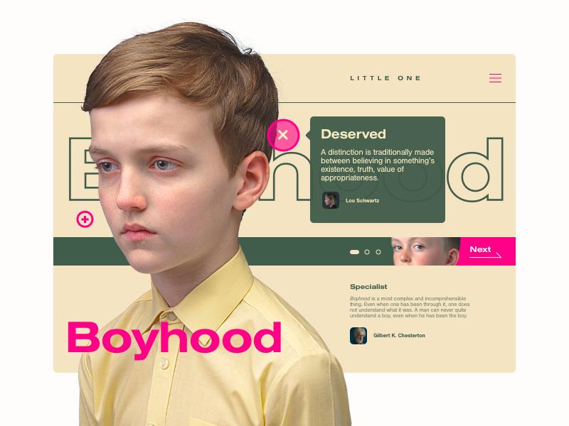 -01- boyhood pego color flat mood grid landing page layout ui ux web design website