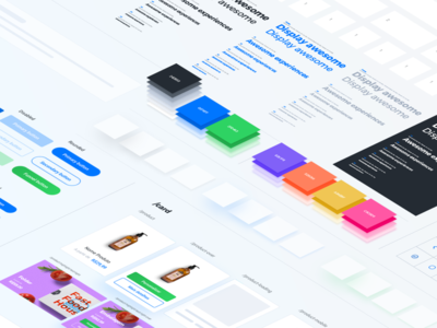 Design System Offset - Printi isometric colorful gradient interaction purple shapes design system flat icons ui webdesign scale design