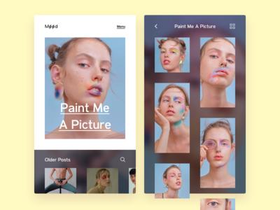 -03- website web design ux ui layout landing page grid music style color pego fashion