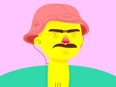 macho illustration design freelance character brazil 2019 yellow northeast colours inspiration trend portfolio pink man color concept art person culture nordeste