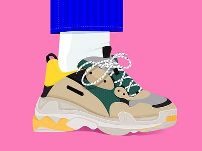 weirdo sneakers shoes minimal logo icon flat fashion etheric creative design business boots aesthetic 90 pego sketches weirdo balenciaga illustration draw design