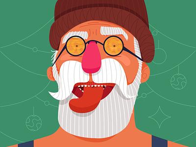 who is claus? 01 vector design freelance colours glasses sunglasses natal 2019 beard santa claus christmas claus vacation santa texture trend noel xmas illustration new year
