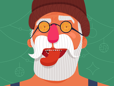 who is claus? 01 vector design freelance colours glasses sunglasses natal 2019 beard santa claus christmas claus vacation santa texture trend noel xmas illustration new year