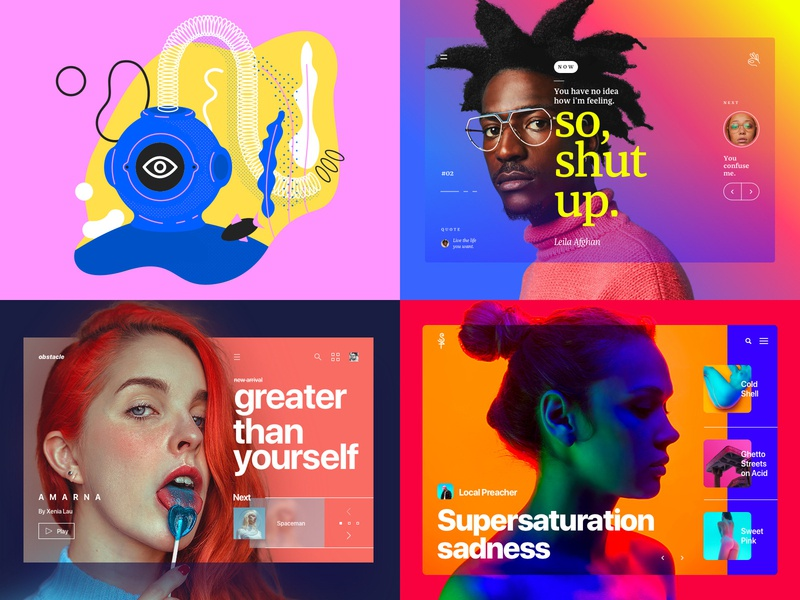 2018 Top Work web concept landing page app icon ux trend vector type brazil ui illustration freelance portfolio gradient colours design
