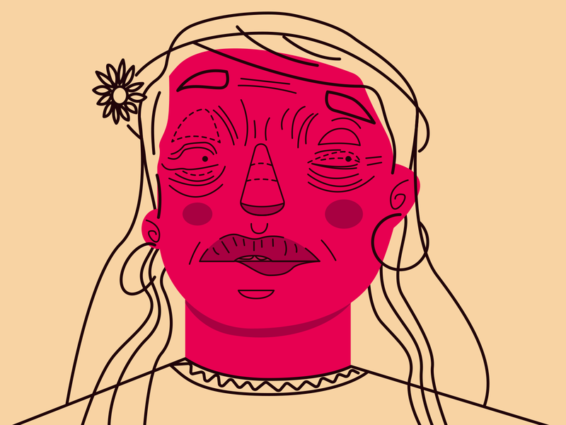 Bonita girl personagem carnival poster girlpower portfolio red flower woman portrait womans character colours design illustration freelance graphic orange graphic  design woman vector