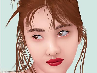 Joy Red Velvet Vector vector illustration vector art vectorart smudge fanart simple fan art cartoon vector illustration design