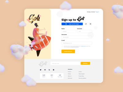 Sign Up Form app icon typography ux vector branding ui logo illustration design