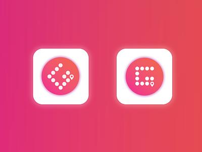 Icon Experiment  moving location ui arrow icon