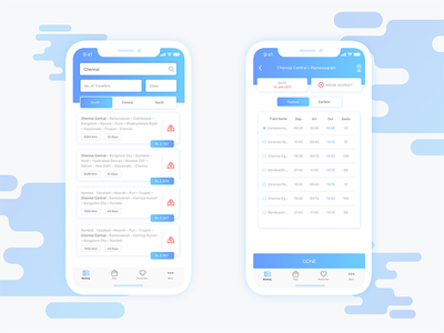 Circular Train Journey - Search Page travelling ticket circulat sketch modern minimal ios train indian eticket booking