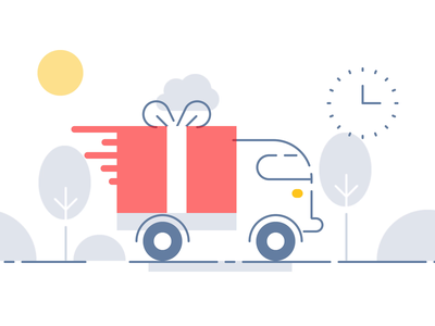 Zephyr Transport & Delivery movie animation truck icons flat memphis shipping rush courier delivery transport illustration zephyr icojam