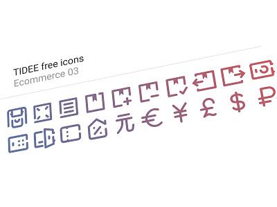 20 Free Tidee Ecommerce icons vol.03 finance ecommerce free freebie vector icojam icons