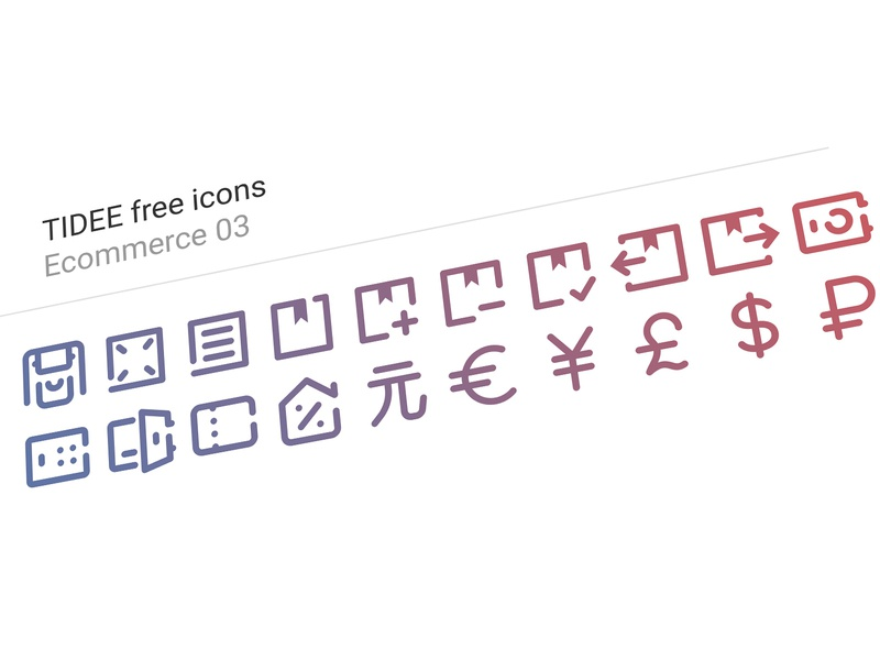 20 Free Tidee Ecommerce icons vol.03 finance ecommerce free freebie vector icojam icons