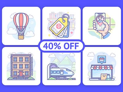 Scenarium icons Bundle onboarding ui illustration vector icojam icons scenarium