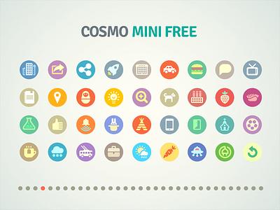 Cosmo mini free flat cosmo freebie free icons icon set pixel perfect icojam glyph
